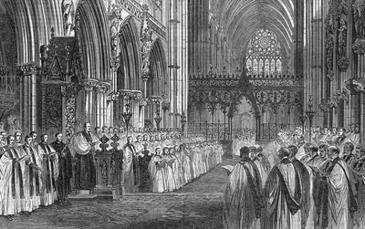 Choral Festival at Lichfield Cathedral, 1865