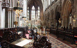Lichfield Cathedral Quire from Precentor's stall