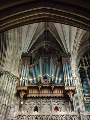 Quire Organ Case of Lichfield Cathedral